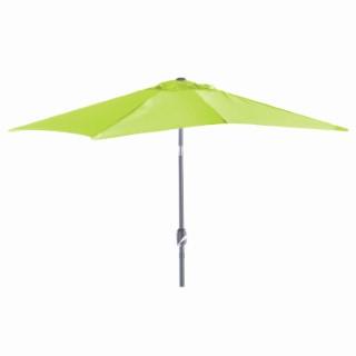 Demi parasol rectangulaire vert 2,30 m x 1,30 m
