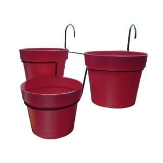 porte pots trio cascade avec pots supports et accessoires pot de fleur balcon terrasse botanic. Black Bedroom Furniture Sets. Home Design Ideas