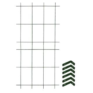 Treillage colonne 2 éléments + 6 équerres fixations vert sapin 1,60x75