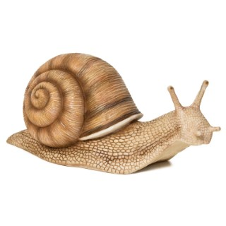 Statue de jardin escargot marron 30 x 12 x 15 cm 197902