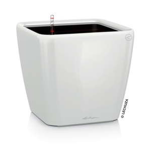 Pot à réserve d'eau Quadro Blanc L.21x21 x H.20 cm