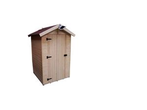 Abri et toilettes sèches de jardin 1,20 x 1,20 m
