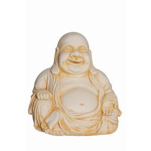 Bouddha Chinois Grand modèle en béton coulé Finition vieillie 28 cm