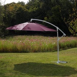 Parasol déporté cassis D 300 cm