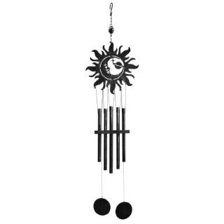 Carillon décor soleil en acier, H 99 X Ø 25 cm