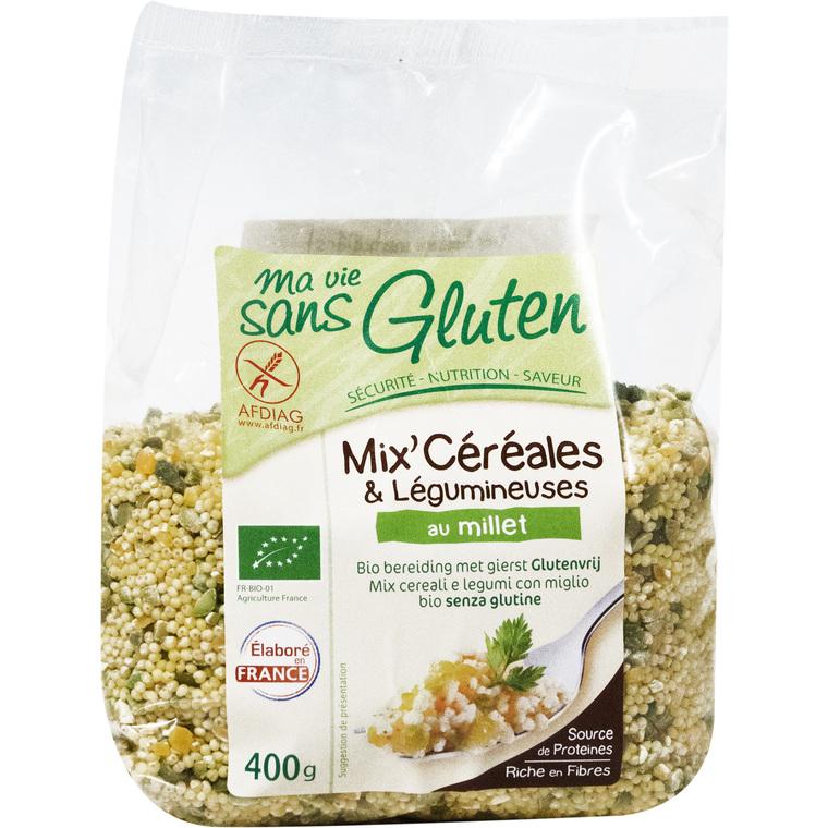 Mix céréales & légumineuses au Millet 400 g MA VIE SANS GLUTEN