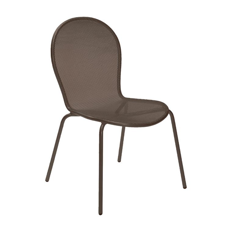 Chaise de jardin empilable Ronda EMU Marron d'Inde