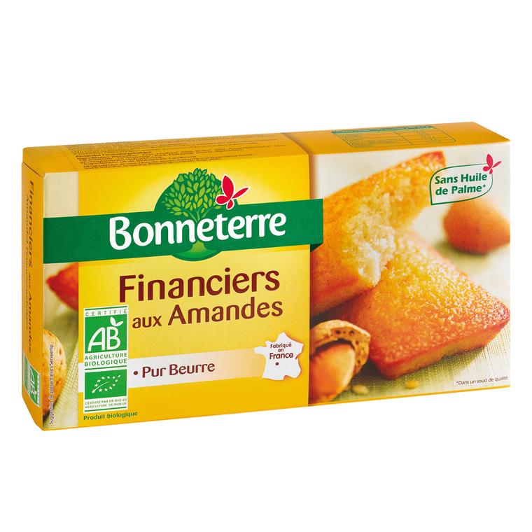 Financiers aux amandes pur beurre 150 g BONNETERRE 100315