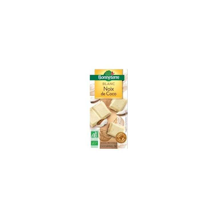 Chocolat blanc noix de coco 100 g BONNETERRE 100328