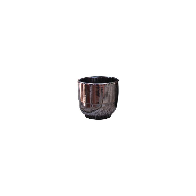 Vase Rebord coloris métal H 27 x Ø 30 cm 103978