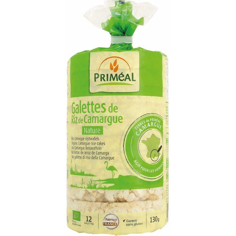 Galettes de riz de Camargue nature 130 g PRIMEAL 104362