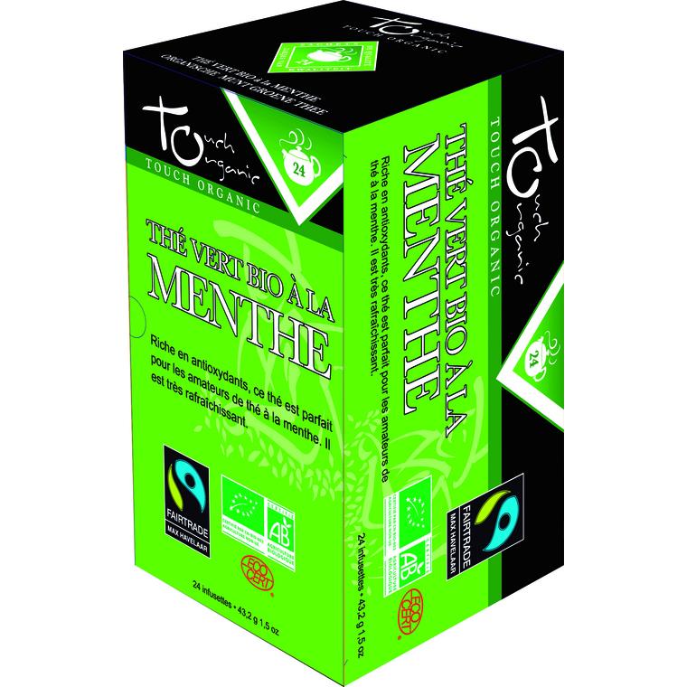 Thé vert à la menthe bio – 24 infusettes 109065