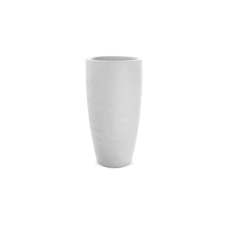 Vase Lantana blanc en terre cuite H 65 x Ø 38 cm 109139