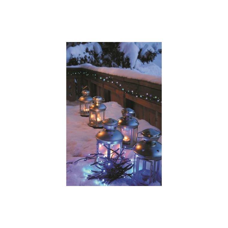 Guirlande solaire animée 100 LED coloris bleu L 10 m 115390