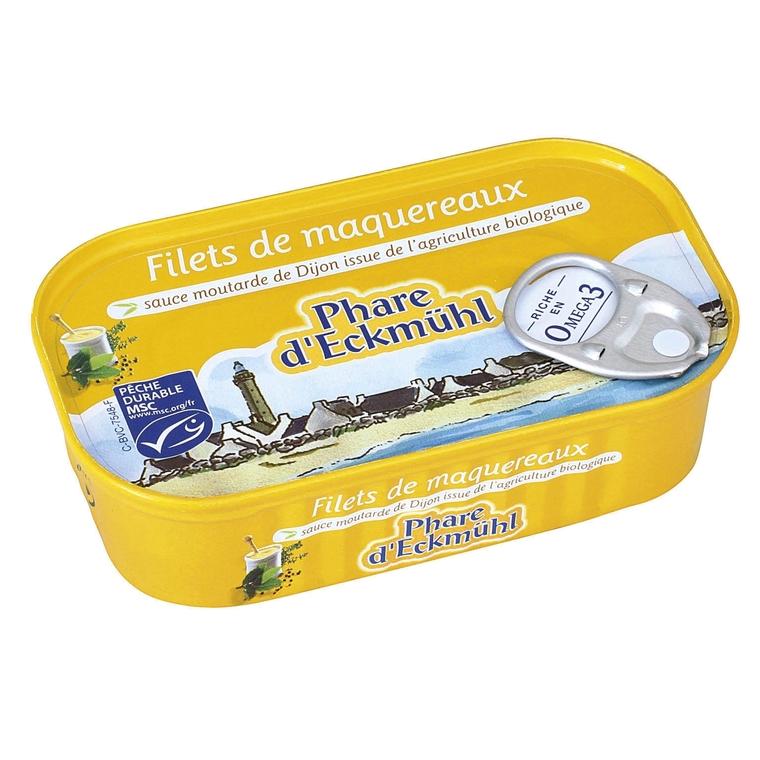Filets de maquereaux à la moutarde 113 g 119317
