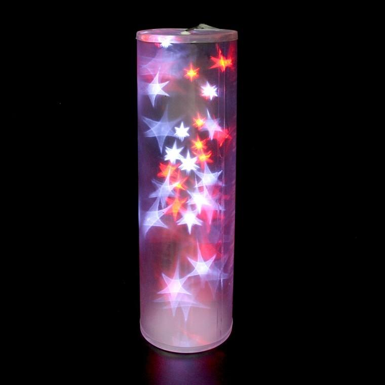 Cylindre holographique blanc et rouge 48cm 122057