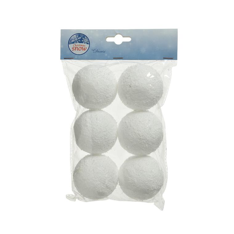 Boules de neige lot de 6 D 6cm 122462