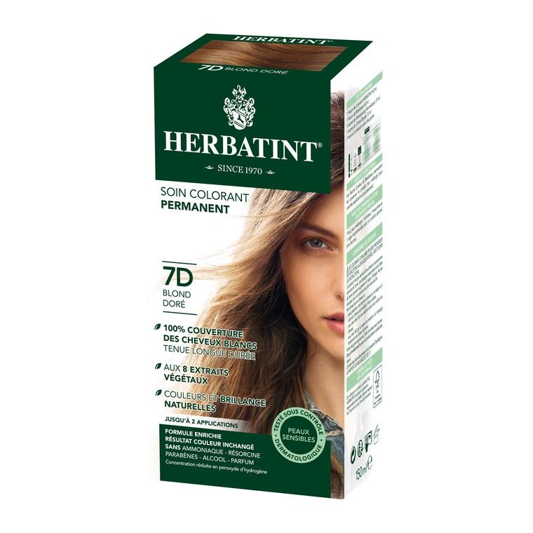 Coloration Herbatint Blond Doré - 7D.145 ml 122846