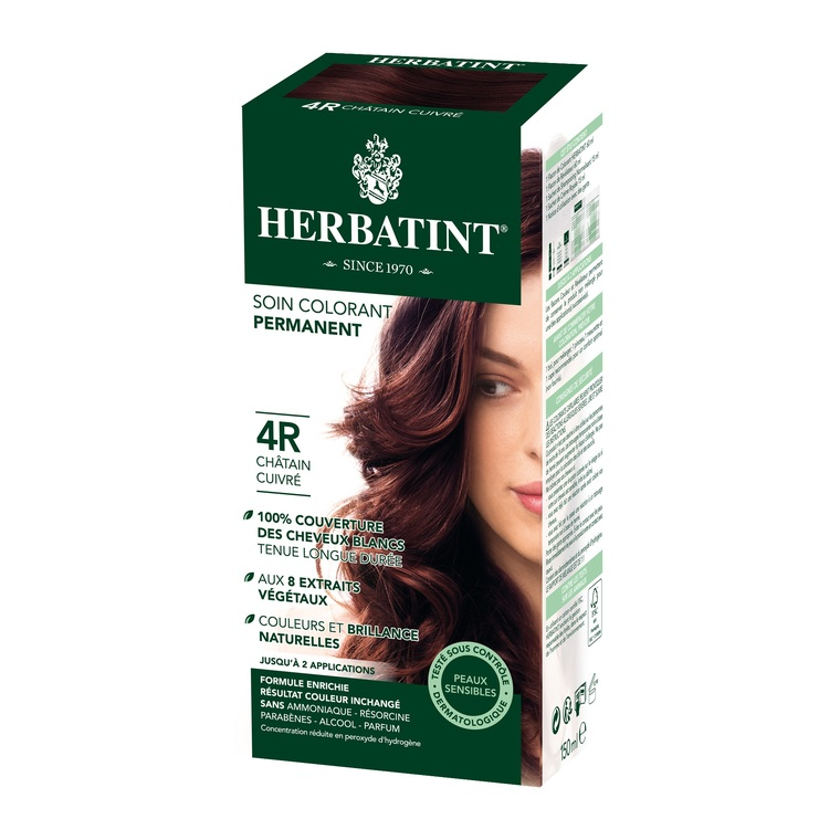 Coloration Herbatint Châtain Cuivré - 4R.145 ml 122851