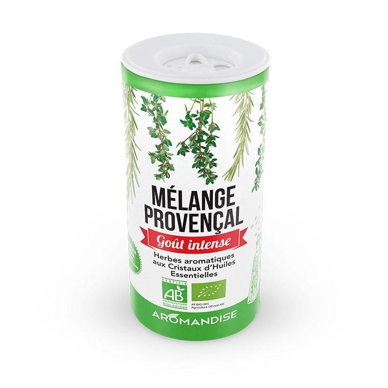 Fleurs d'épices herbes de Provence bio en tube vert de 28 g 127697