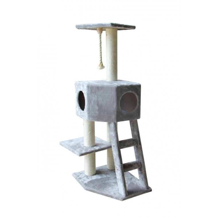 Arbre à chat Classic Rover gris 120 cm 129007