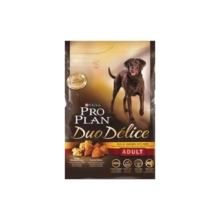Croquettes pour chien duo délice au poulet Pro plan 10 kg 129531