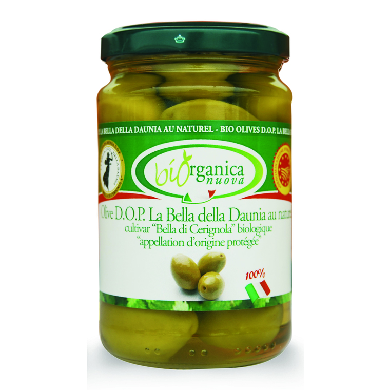 Olives vertes entières 280 g BIOORGANICA 132994