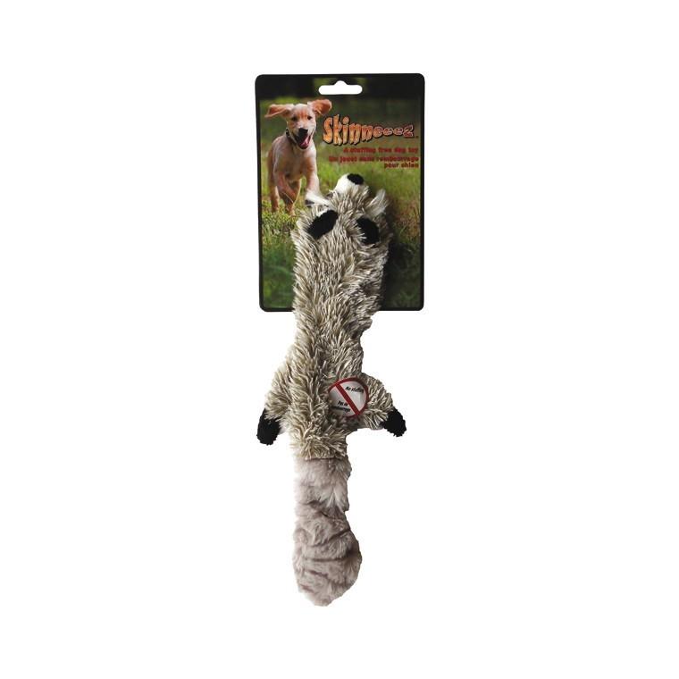 Jouet 34cm raton laveur peluche Skinneeez pour chien 14497