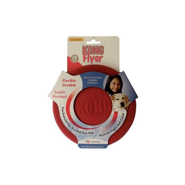 Jouet Chien Kong 18cm flyer fressbee Small rouge 18cm 14510