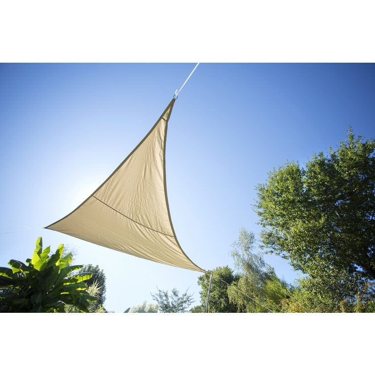 Voile ombrage taupe 3,6m triangulaire Serenity 153421
