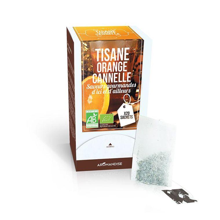 Tisane à l'orange et à la cannelle bio en boite de 20 sachets 154039