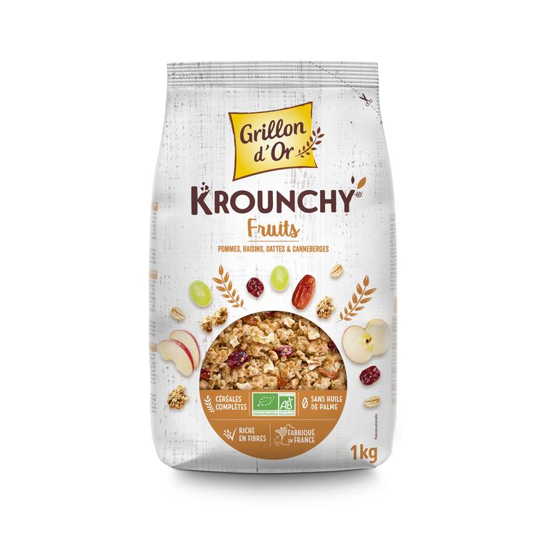 Krounchy familial fruits bio 1 kg 15600