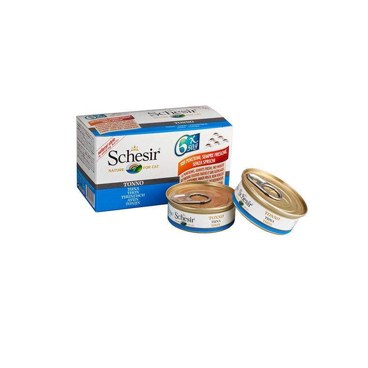 Boîte pour chat Schesir Thon + bouillon 6 x 50 g 159209
