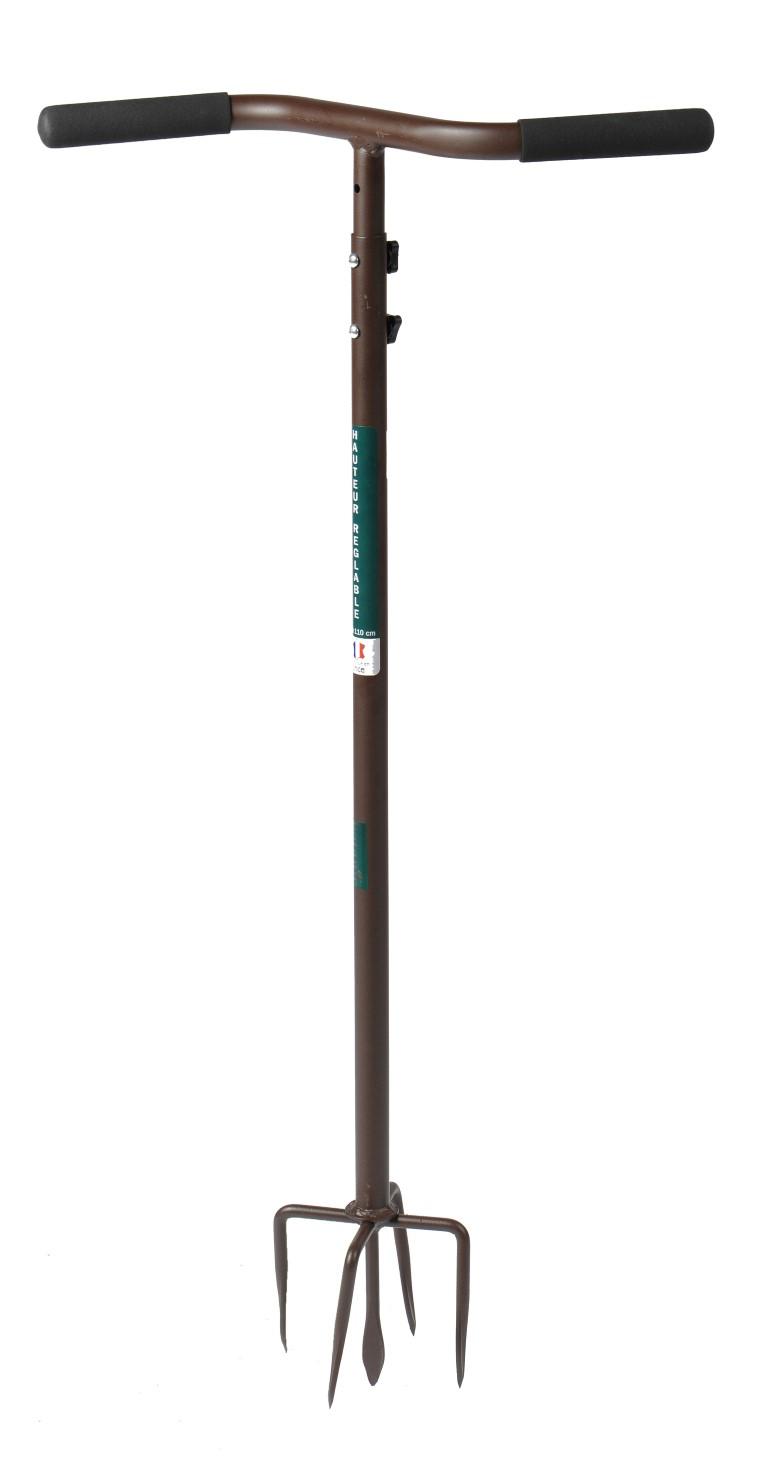 Griffe de jardin rotative réglable - 90 à 110cm 159316