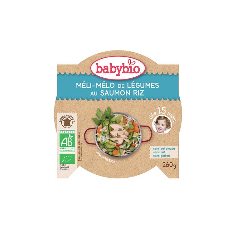 Menu du jour légumes saumon et riz Babybio 260 g 160665