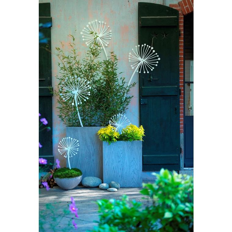 Jardinère haute GENEVE L.60x25xH.72 Gris 163731