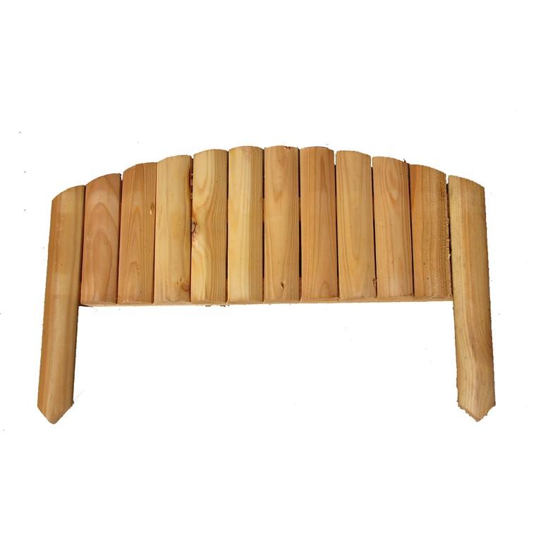 Bordure rigide 1/2 rondin arc mélèze 164614