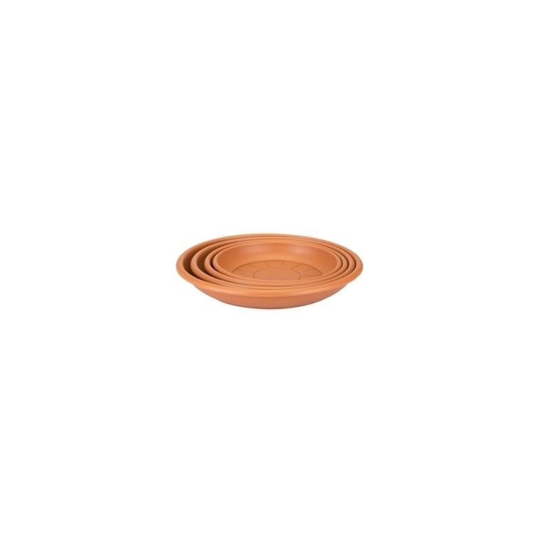 Soucoupe ronde 21 cm terre cuite ELHO 165352