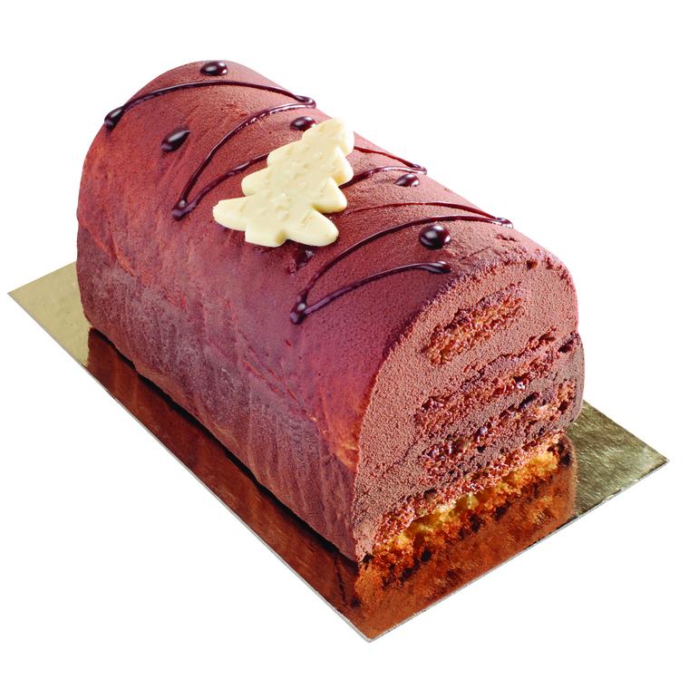 Bûche pralinée chocolat 4/5 tranches BELLEDONNE 165627