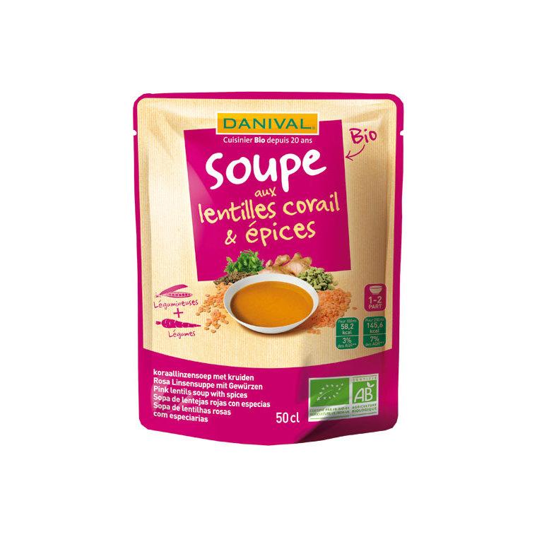 Soupe bio lentilles corail et épices 50 cl 169396