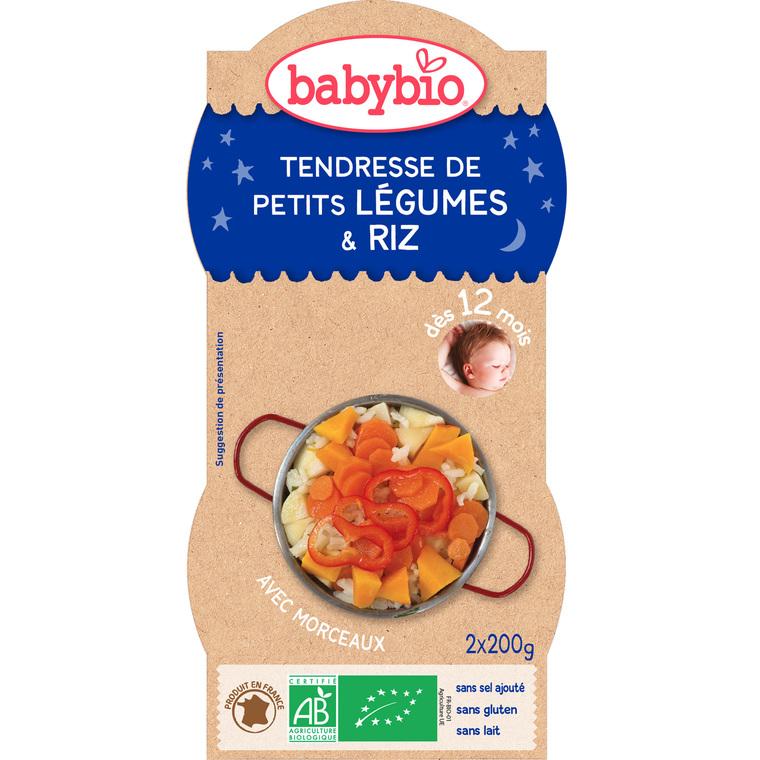 Bonne Nuit Légumes Riz bio 2 x 200 g BABYBIO 171295