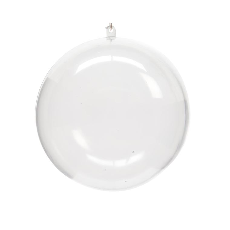 Boîte de 2 boules de Noël plastique transparent à remplir D 10cm 172841