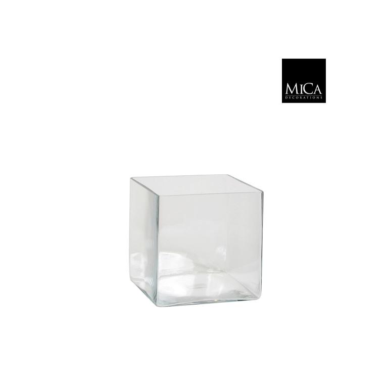Vase Britt carré transparent en verre  20x20x20 cm 174560