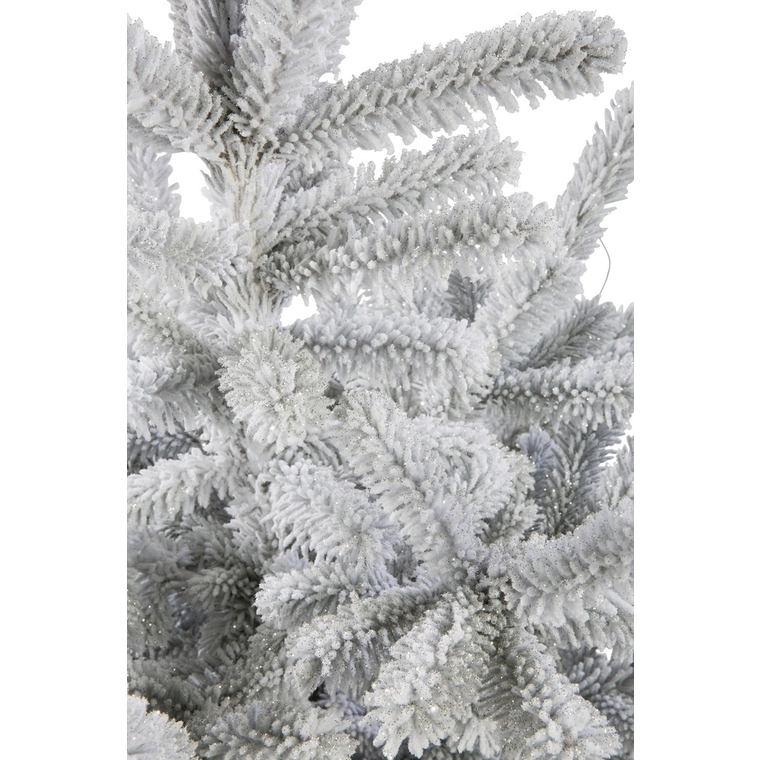 Sapin naturel Glacé Robin blanc enneigé H 90/100 cm 184507