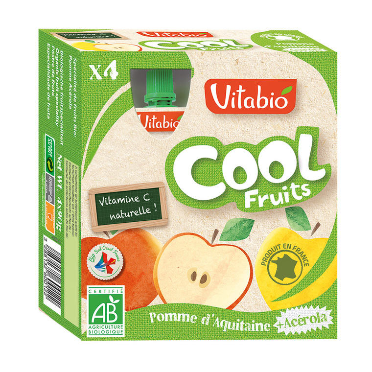 Cool Fruits bio pomme 4 x 90 g 185833
