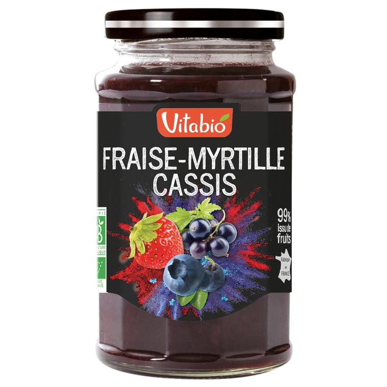 Délice de Fraise-Myrtille-Cassis bio 290 g 185840