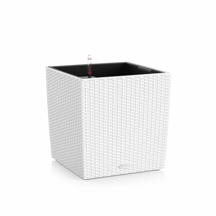 Pot Cube 40cm Cottage kit complet D.40x H39 cm Lechuza 188121