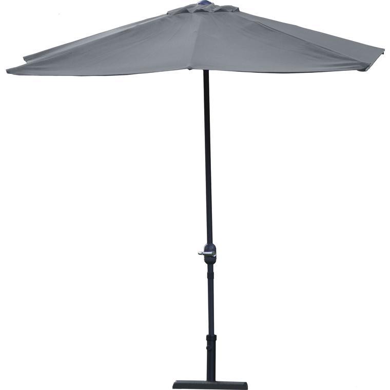 Demi parasol rectangulaire ardoise 2,30 m x 1,30 m 197094