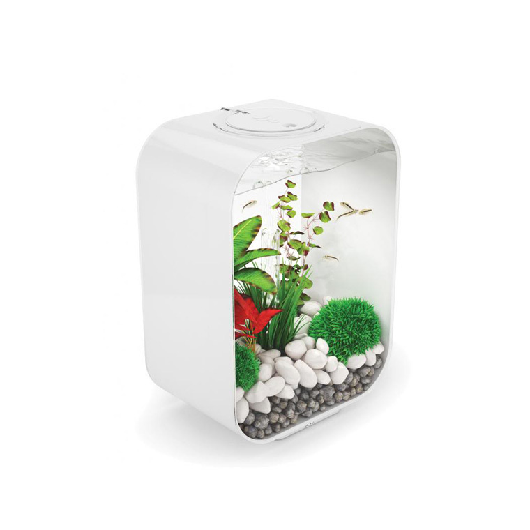 aquarium biorb life blanc 15l botanic. Black Bedroom Furniture Sets. Home Design Ideas