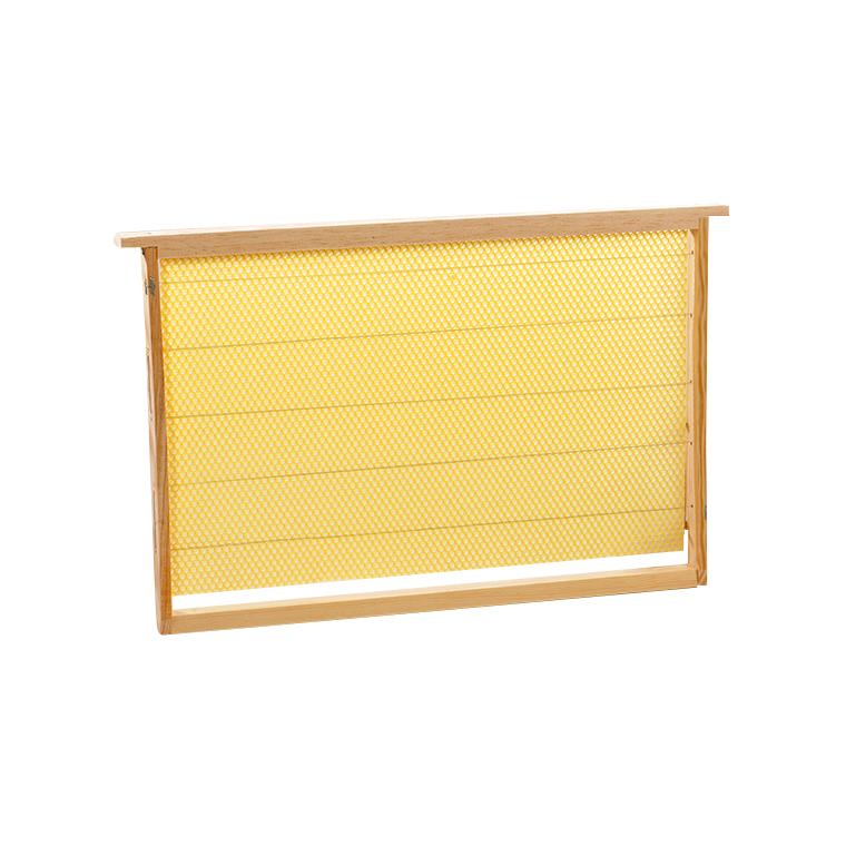 Cadre garni de cire gaufrée pour corps de ruche 47x30x2,5